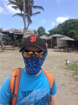 Ronan, hiking the northeast coast of St. Lucia