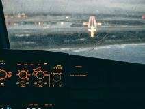 Smartphone Wallpaper Of An Airbus A320 Cockpit In A Stormy Approach On BCN