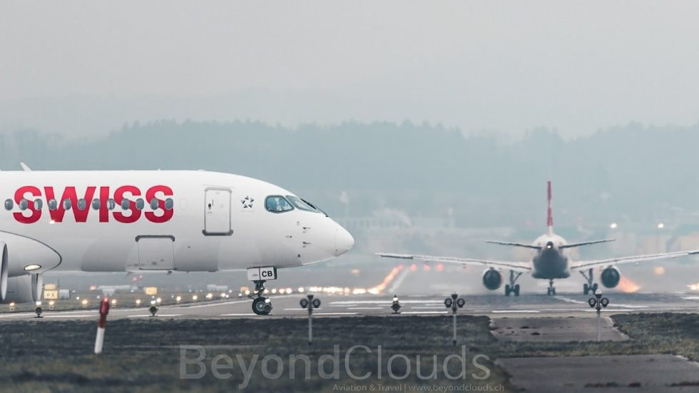 Line-Up ZRH runway 28