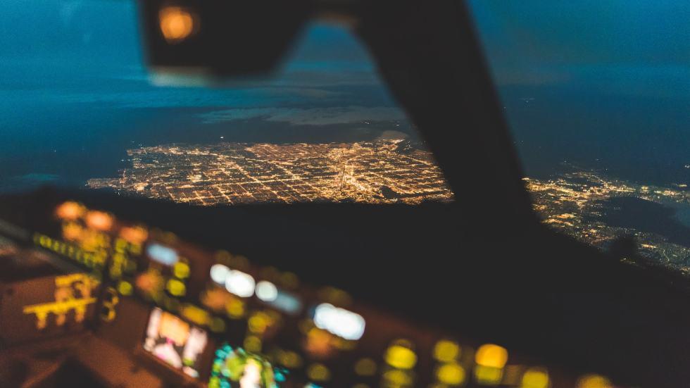 aerial view on Las Vegas