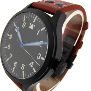TICINO 44mm PVD Automatic Pilot Watch SUPERLUME / SAPPHIRE Crystal