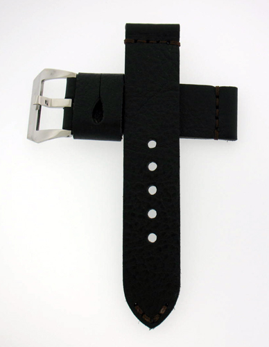 Handmade Black Calf Leather Watch Strap For 44mm Panerai Watches