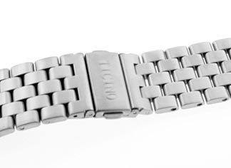 22mm Signed Aviator Pilot Watch Bracelet w/ Straight Edged Links
