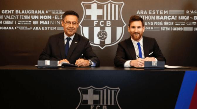 Messi firma nuevo contrato con el Barcelona hasta 2021