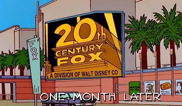 """¡Lo hacen de nuevo! Los Simpson """"predicen"""" compra de Fox por Disney"""