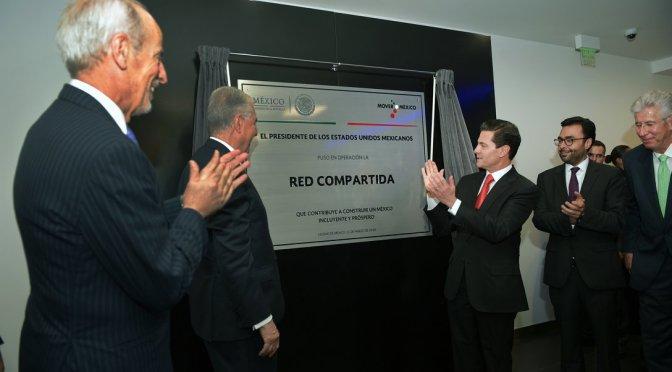 Gana México con modelo de Red Compartida,destaca Peña Nieto