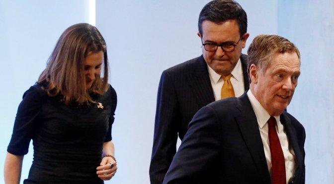 México y Canadá exentos de aranceles, si hay acuerdo en TLCAN, condiciona EU
