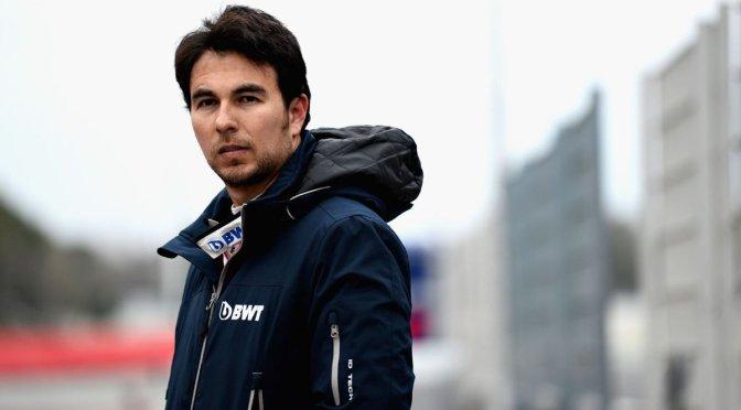 """""""Checo"""" Pérez se ubica octavo en primeros test de Fórmula 1"""