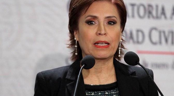 Rosario Robles solicitó amparo contra cualquier orden de detención