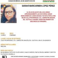 Sarahí, 14 años, desapareció hace casi 5 meses en la CdMx; su madre teme que sea una víctima de trata