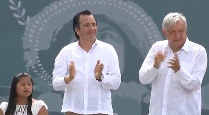 López Obrador señaló que Veracruz tendrá apoyos como nunca en la historia