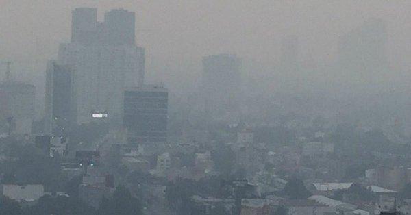 Reportaron ambiente brumoso en la Ciudad de México