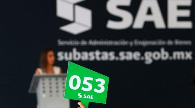 Quinta subasta de bienes recaudó 16.2 mdp: SAE