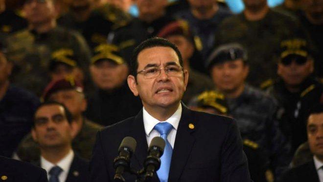 Jimmy Morales, presidente de Guatemala, culpó a Corte por amenazas de Donald Trump