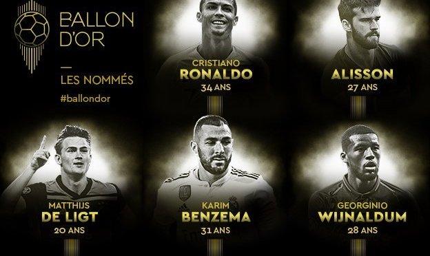 Todas las nominadas y nominados al Balón de Oro 2019