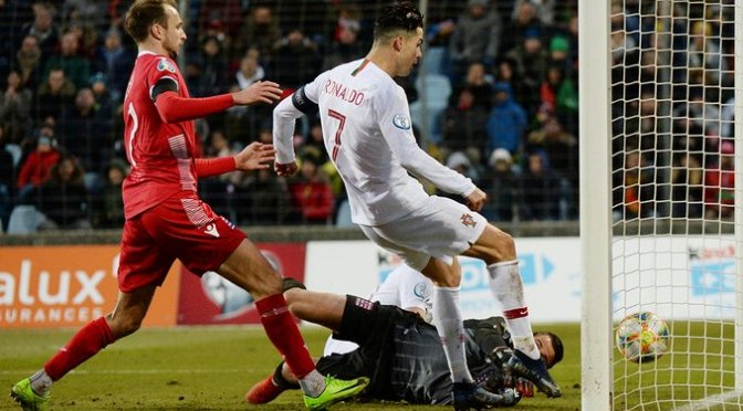 Portugal clasifica a la Euro 2020; Cristiano Ronaldo a nada de romper otra marca