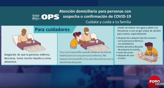 ¿Qué hacer si cuidas a una persona con COVID-19?