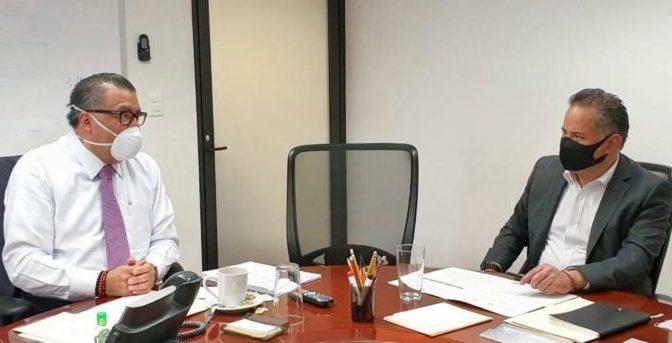 Santiago Nieto y Horacio Duarte coordinan esfuerzos para combatir la corrupción en aduanas