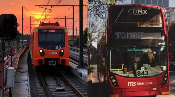 Metro y Metrobús reabren todas las estaciones