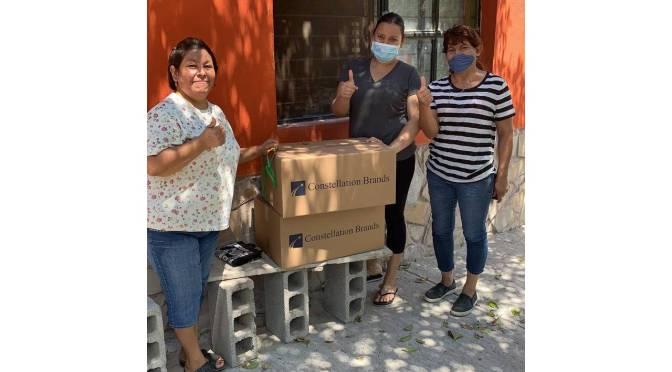 Constellation Brands dona 9 mil despensas a familias de escasos recursos en Coahuila y Sonora