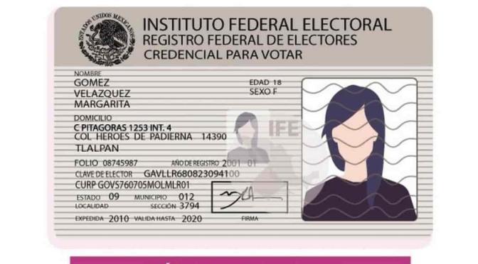 ¿No renovaste tu credencial de elector? Seguirá vigente hasta las elecciones intermedias de 2021
