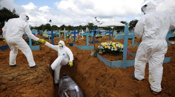 Brasil registra 1,340 nuevas muertes por coronavirus este miércoles