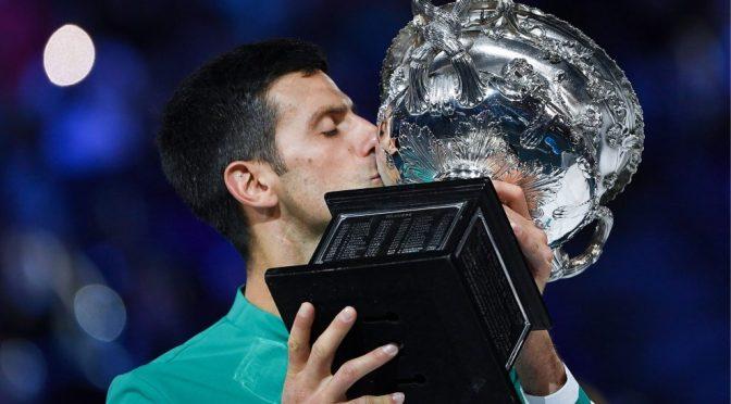 Djokovic gana por novena ocasión el Abierto de Australia
