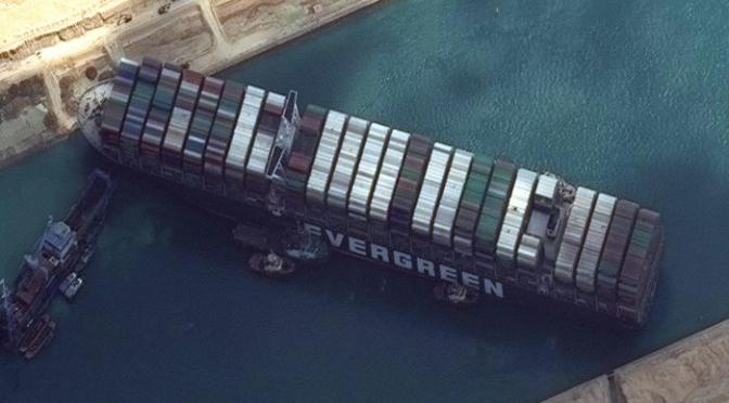 Bloqueo del barco del Canal de Suez se mueve ligeramente, no está claro cuándo volverá a flote