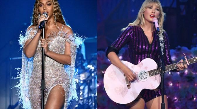 Taylor Swift y Beyoncé podrían hacer historia el día de hoy en los Grammy