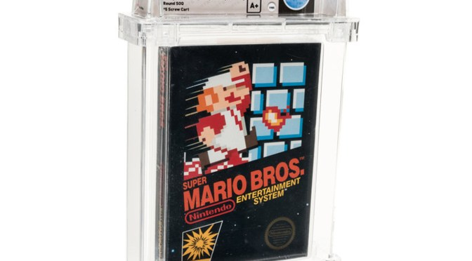 Subastan cartucho de Mario Bros. de 1986 por 660,000 dólares