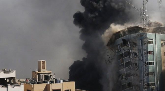 Sede de AP en Gaza es destruída tras recibir ataque israelí