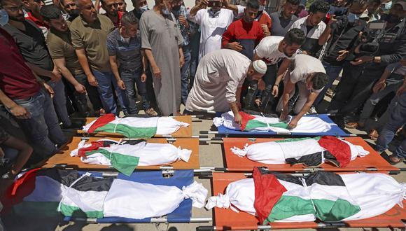 8 niños muertos entre los 33 fallecidos por bombardeo israelí en Gaza