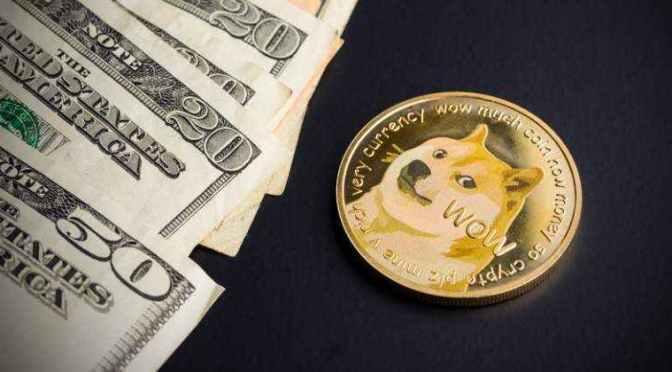 Criptomoneda Dogecoin se eleva un 40% a su máximo histórico