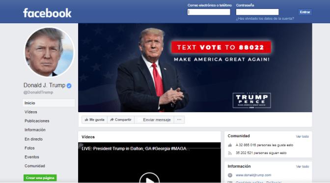 Facebook mantendrá suspensión de Trump hasta 2023