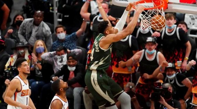 Bucks derrota a Suns y se ponen a un juego en las finales de la NBA