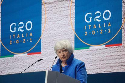 Yellen insta a la UE a respaldar el acuerdo fiscal global