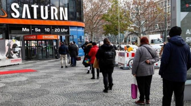 Ventas minoristas alemanas aumentaron un 1.5% en 2021