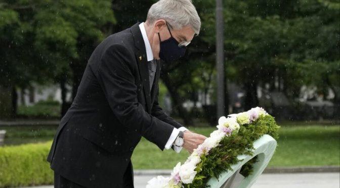 Recibimiento mixto a presidente de COI en visita a Hiroshima