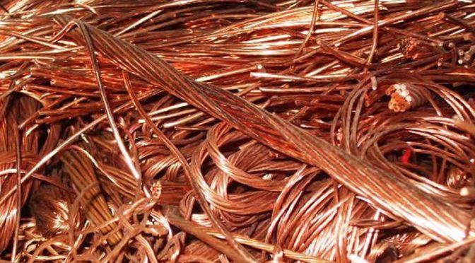 Precios del cobre flotan cerca de máximos de 6 semanas