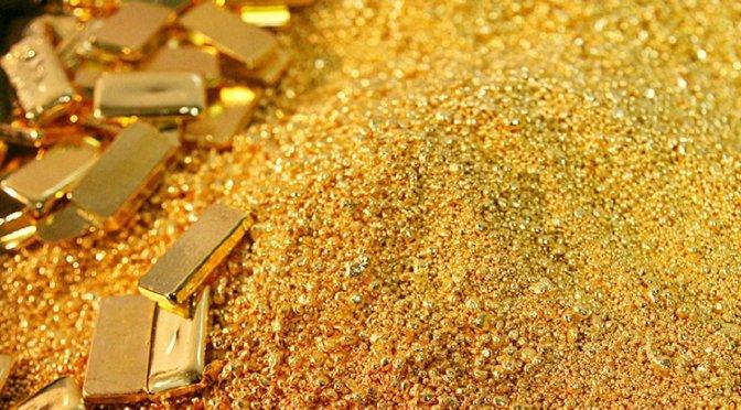 Precios del oro se mantienen por debajo de los 1,800 dólares