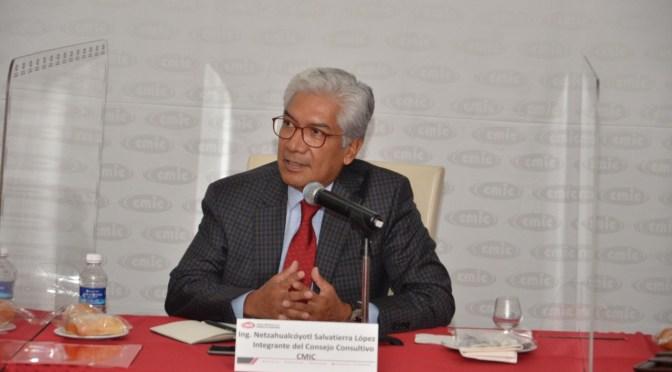 Presenta Netzahualcóyotl Salvatierra agenda estratégica a representantes de industria de la construcción
