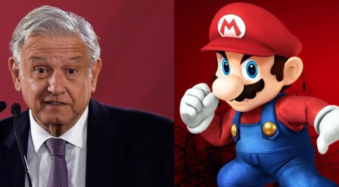 Esa no te la esperabas Mario Bros… AMLO se expresa en contra de los videojuegos (otra vez)