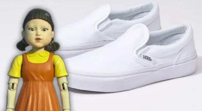 """Furor por  """"El juego del calamar"""" aumentan ventas de zapatos blancos sin cordones de Vans"""