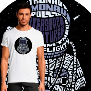 T-shirt Homme Astronaute By KalliGram