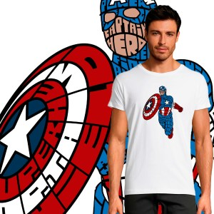 T-shirt Homme Captain America by Kalligram