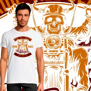 T-shirt Homme Ride Till Death By Old School