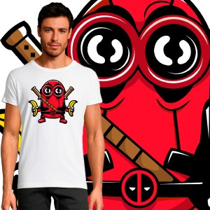 T-shirt Homme Pop Culture Minion Deadpool