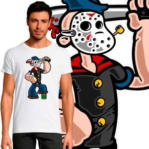 T-shirt Homme Pop Culture Popeye Vendredi 13