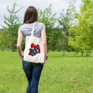 sac tote bag pop culture captain mario