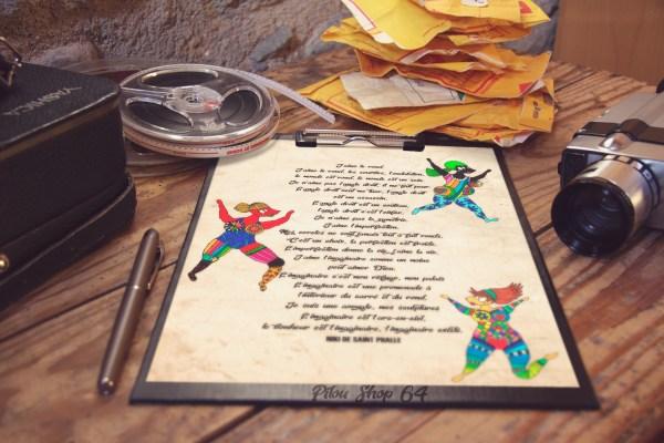 affiche-poster-desing-tee-shirt-les-nanas-poème-niki-de-saint-phalle